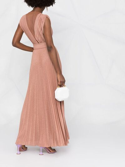 Elisabetta Franchi плиссированное платье макси AB14913E2 - 4