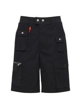 Cotton & Nylon Cargo Shorts Diesel 73IBQT023-OVhY0