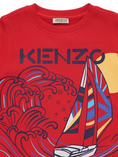 Хлопковый Свитшот С Принтом Kenzo Kids 73I6TC097-OTcx0 - 2
