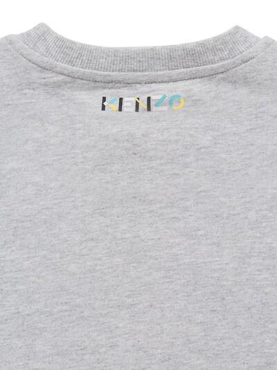Хлопковый Свитшот С Принтом Логотипа Kenzo Kids 73I6TC016-QTQx0 - 4