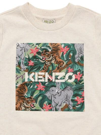 Хлопковый Свитшот С Принтом Kenzo Kids 73I6TB088-QjM50 - 2