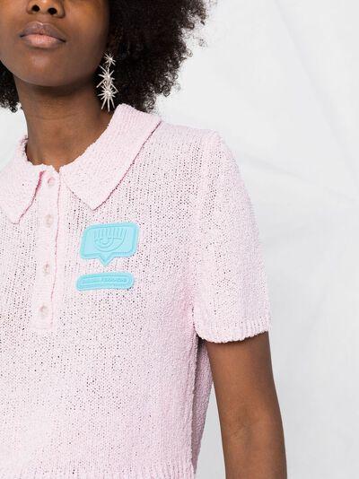 Chiara Ferragni рубашка поло с логотипом CFPO006 - 3