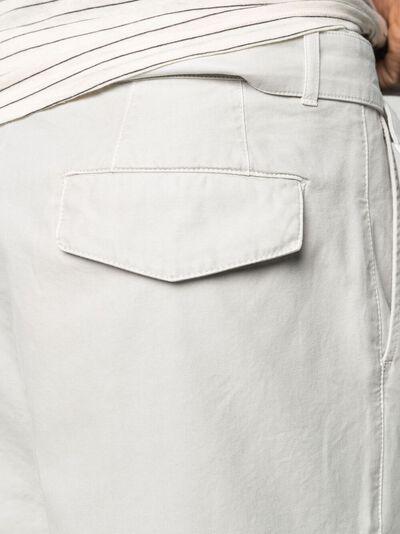 Officine Generale зауженные брюки со складками S21MCHN711 - 5