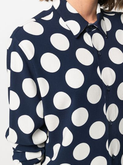 Ami Paris рубашка оверсайз в горох E21FC139294 - 5