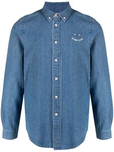Paul Smith джинсовая рубашка с вышитым логотипом M2R599RF20586 - 1