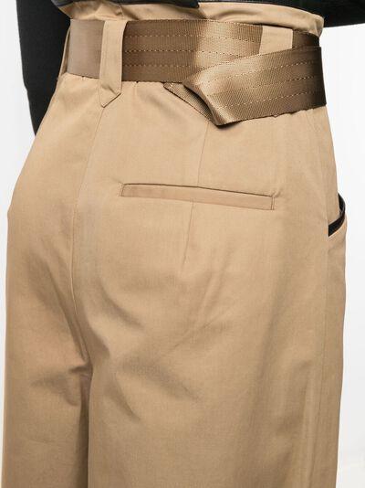 Self-Portrait брюки с завышенной талией и поясом SS21015T - 5