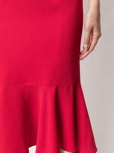 L'Autre Chose креповое платье с расклешенным подолом B2511018022U479 - 5