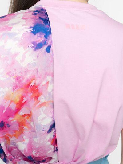 MSGM футболка с цветочным принтом и бахромой 3041MDM81217298 - 5