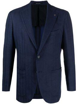 Tagliatore однобортный пиджак в полоску 1SFR22K34SEG265