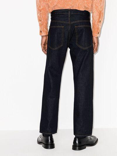 Helmut Lang прямые джинсы с завышенной талией L01DM204 - 3