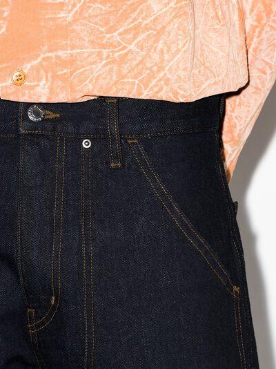 Helmut Lang прямые джинсы с завышенной талией L01DM204 - 4