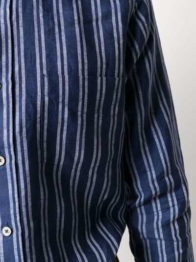 Canali полосатая рубашка LX19GL02215 - 5