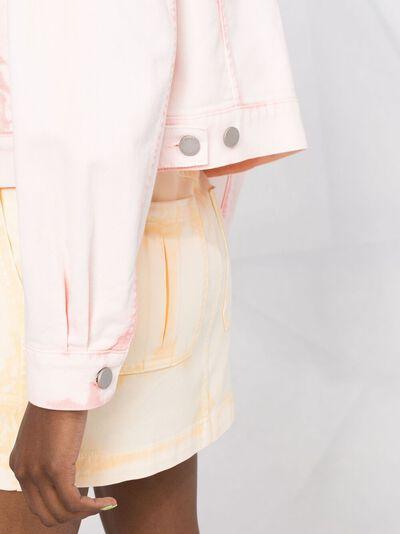 Alberta Ferretti укороченная куртка из вареного денима A05130181 - 3