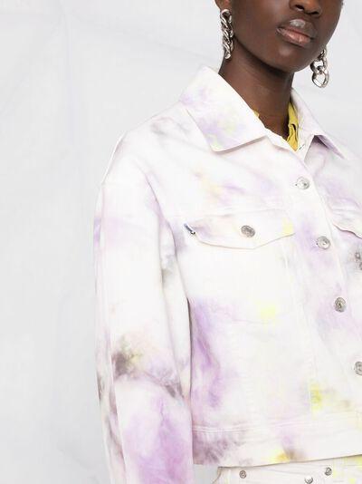 MSGM джинсовая куртка с узором 3042MDH142T217482 - 3