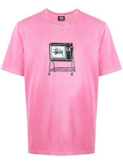 Stussy футболка Rolling TV с графичным принтом 1904672 - 1