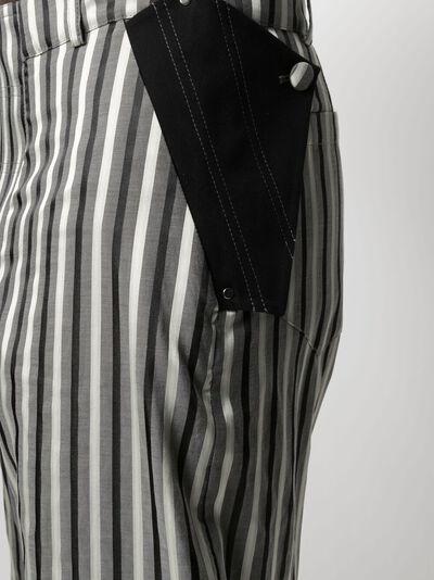 Kiko Kostadinov укороченные брюки в полоску KKSS21T01902 - 5