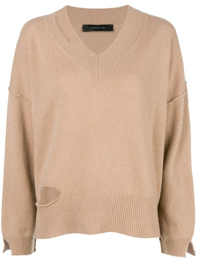 Federica Tosi cut-detail flared sweater FTI18MK092 - 1