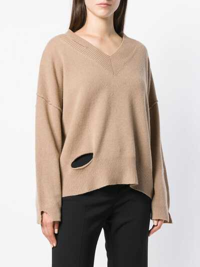 Federica Tosi cut-detail flared sweater FTI18MK092 - 3