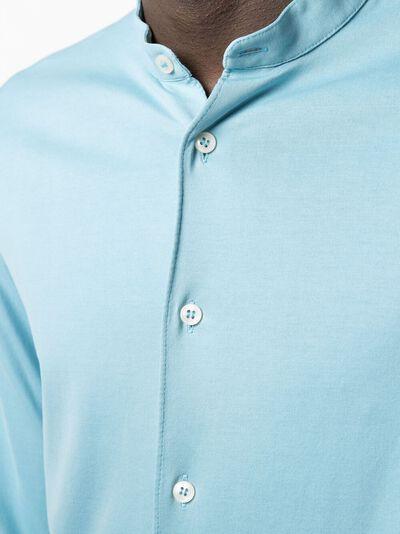 Dell'oglio рубашка с воротником-стойкой CAMLCORJERVIN - 5