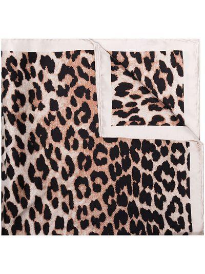 Ganni платок с леопардовым принтом A3338 - 1