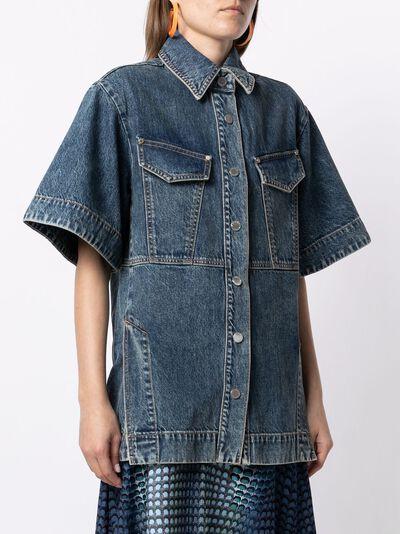 Slvrlake джинсовая рубашка Freedom SLEL15707S - 3