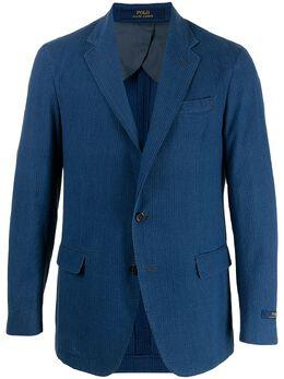 Polo Ralph Lauren однобортный пиджак из сирсакера 715836543001