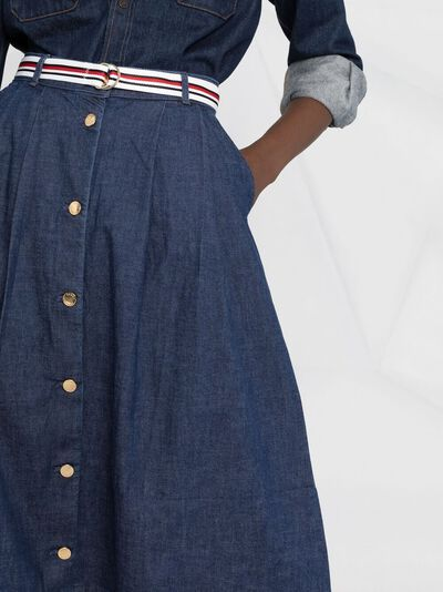 Tommy Hilfiger джинсовая юбка миди на пуговицах WW0WW30312 - 3