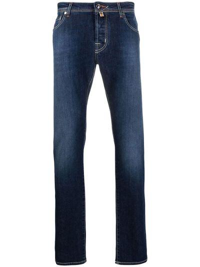 Jacob Cohen узкие джинсы средней посадки J622SLIMCOMF02045W2 - 1
