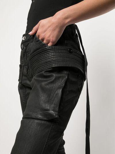 Rick Owens DRKSHDW узкие брюки карго DS21S2310SBW - 5