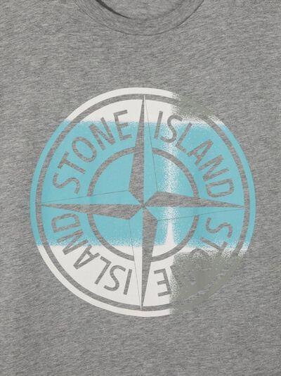 Stone Island Junior футболка с логотипом 741621052 - 3