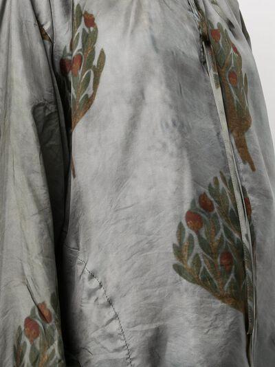 Uma Wang атласная блузка с цветочным принтом UW1032UW374 - 5