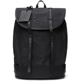 Maison Margiela Black Coated Canvas Backpack S55WA0132 P4135