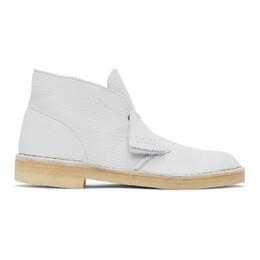 Clarks Originals Blue Leather Desert Boots 26157327