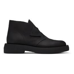 Clarks Originals Black Leather Mileno Desert Boots 26160860