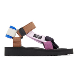 Suicoke Blue and Brown Hay Edition DEPA MIX I Sandals OG-022AabH / DEPA-Aab