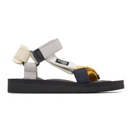 Suicoke Blue and Brown Hay Edition DEPA MIX D Sandals OG-022AabH / DEPA-Aab