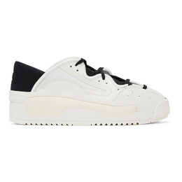 Y-3 White and Black Hokori II Sneakers Q47353