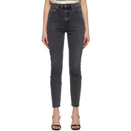 Agolde Grey Pinch Waist Ultra High-Rise Skinny Jeans A165B-1274