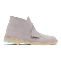 Clarks Originals Grey Suede Desert Boots 26157332