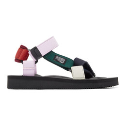 Suicoke Red and Pink Hay Edition DEPA MIX H Urban Sport Sandals OG-022AabH / DEPA-Aab