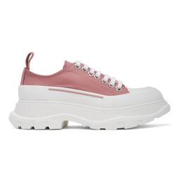 Alexander McQueen Pink Satin Tread Slick Sneakers 611705W4PU1