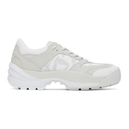 Kenzo Grey and White Work Sneakers FB52SN500L68