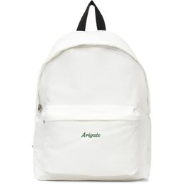 Axel Arigato White Script Logo Backpack 15526