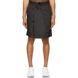 Fumito Ganryu Black Fisherman Puckered Shorts Fu5-Pa-06