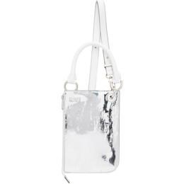 Ader Error Silver and White Swip Bag BKASSTB03WH