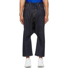 Fumito Ganryu Indigo 5-Pocket Sarouel Jeans Fu5-Pa-08