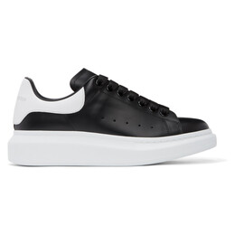 Alexander McQueen Black and White Oversized Sneakers 553680WHGP5