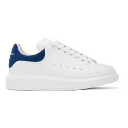 Alexander McQueen White and Blue Oversized Sneakers 553680WHGP7