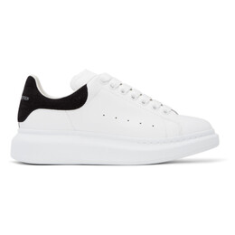 Alexander McQueen White and Black Croc Oversized Sneakers 625162WHZ4K