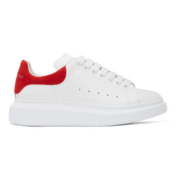Alexander McQueen White and Red Oversized Sneakers 553680WHGP7